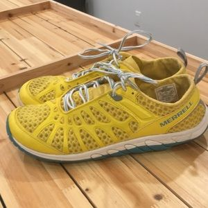 Merrell yellow mesh barefoot shoes - women's sz 11